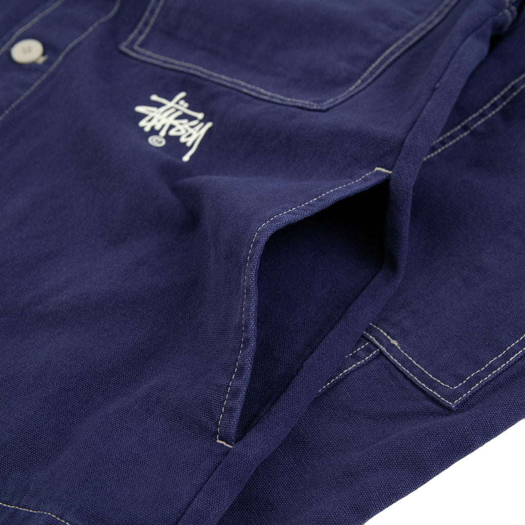 Stussy Canvas Shop Jacket in Navy - Side Pocket