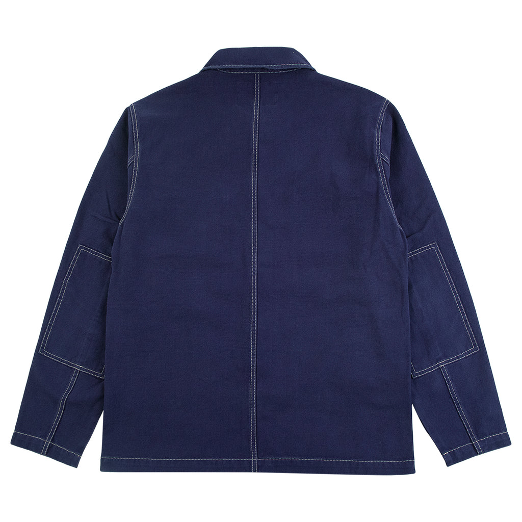 Stussy Canvas Shop Jacket in Navy - Back