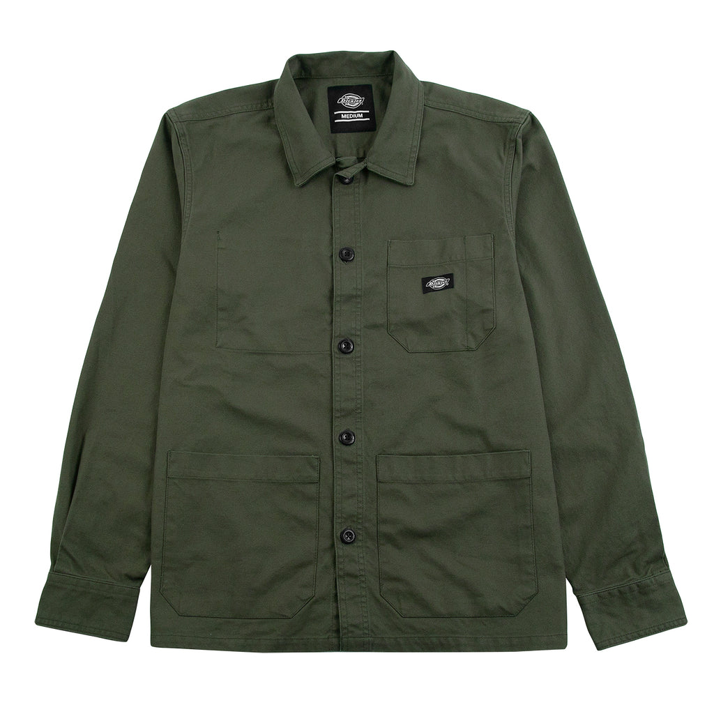 Dickies Caprock Over Shirt in Dark Olive