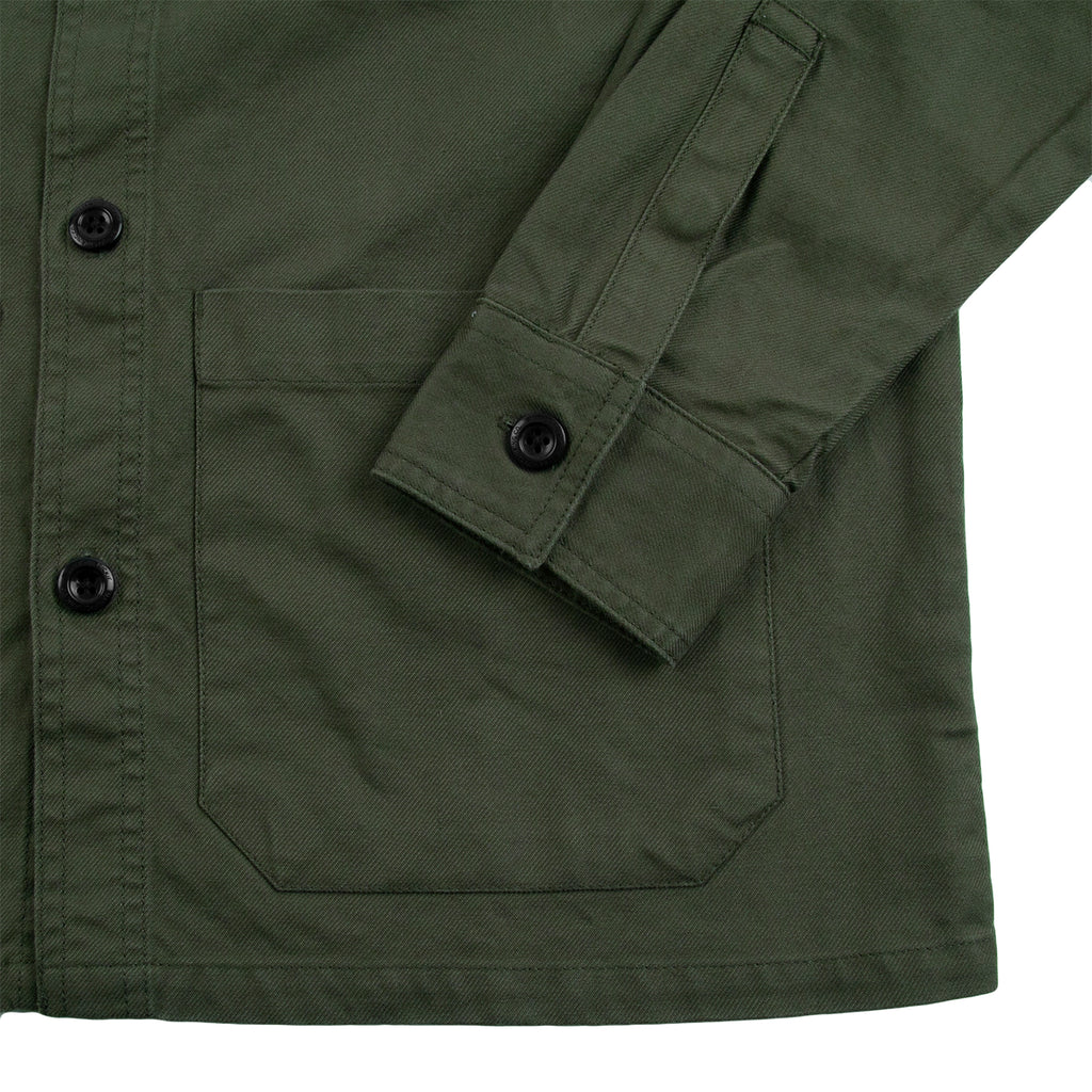 Dickies Caprock Over Shirt in Dark Olive - Cuff
