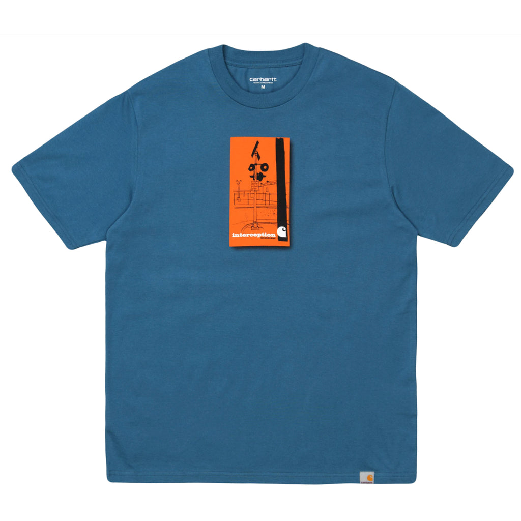 Carhartt WIP Interception T Shirt in Shore