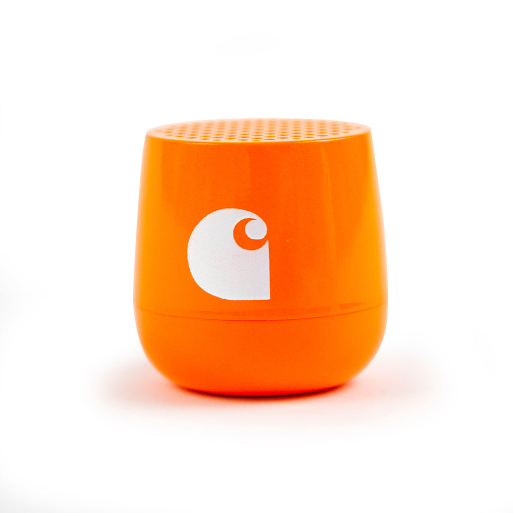 Carhartt WIP x Lexon Mini Speaker in Neon Orange