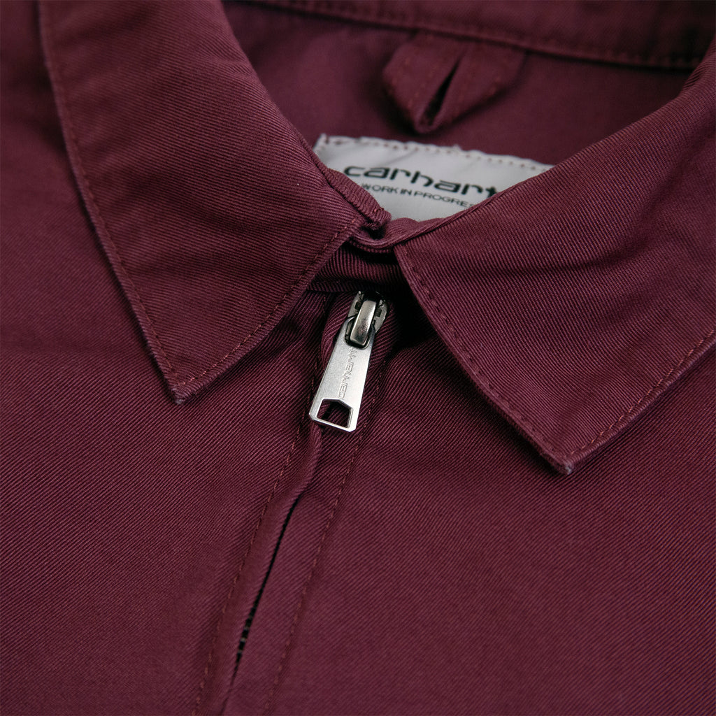 Carhartt WIP Madison Jacket in Shiraz / Black - Collar