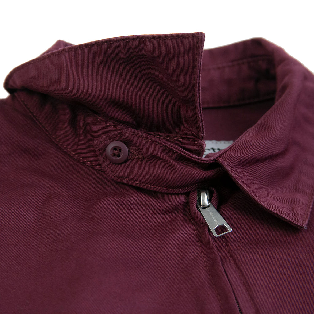 Carhartt WIP Madison Jacket in Shiraz / Black - Collar 2