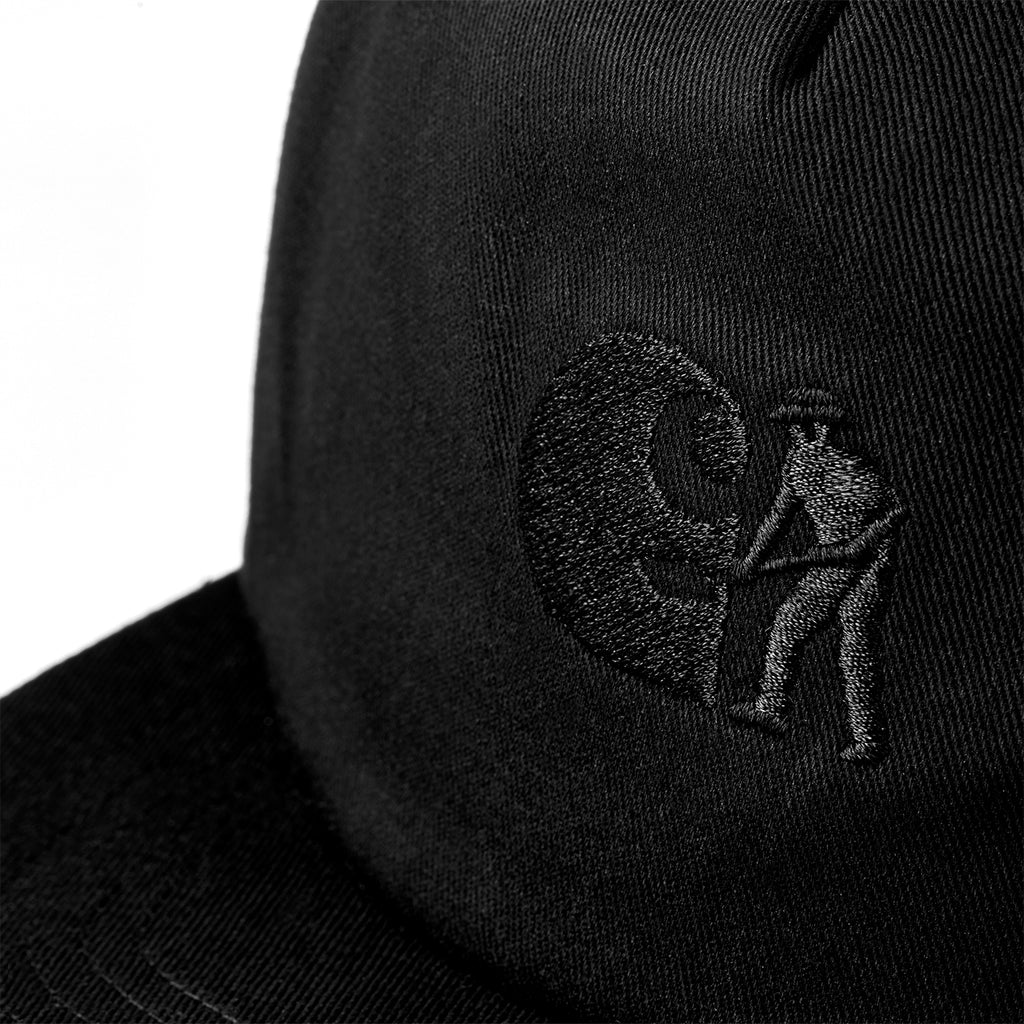 Carhartt x Pass Port Cap in Black - Embroidery