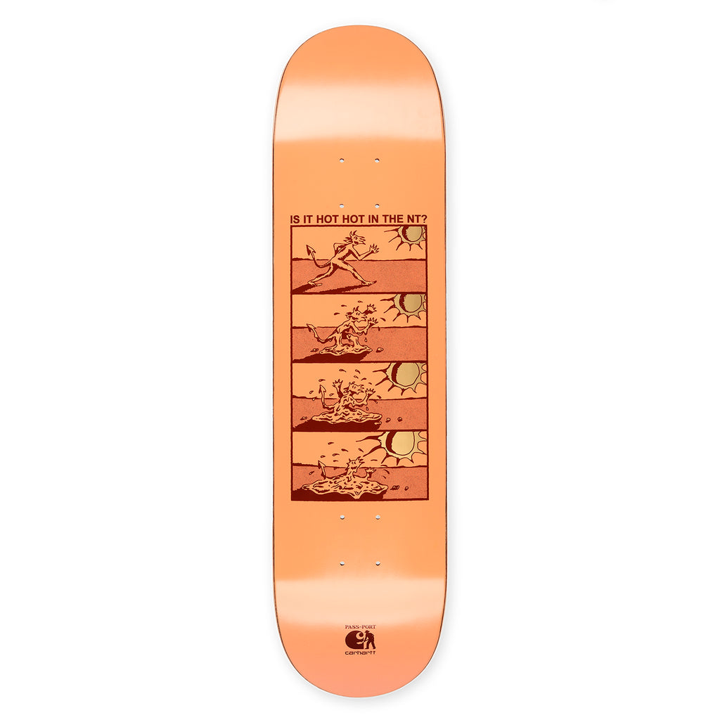 Carhartt WIP x Pass Port Hot Hot Skateboard Deck in 8""
