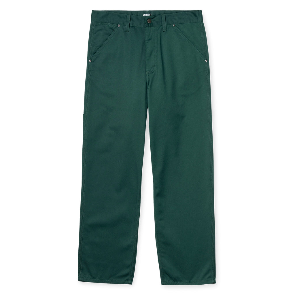 Carhartt WIP x Pass Port Pall Pant in Bottle Green - Front