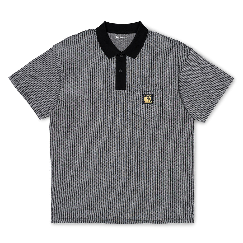Carhartt x Pass Port Polo in White / Stripe
