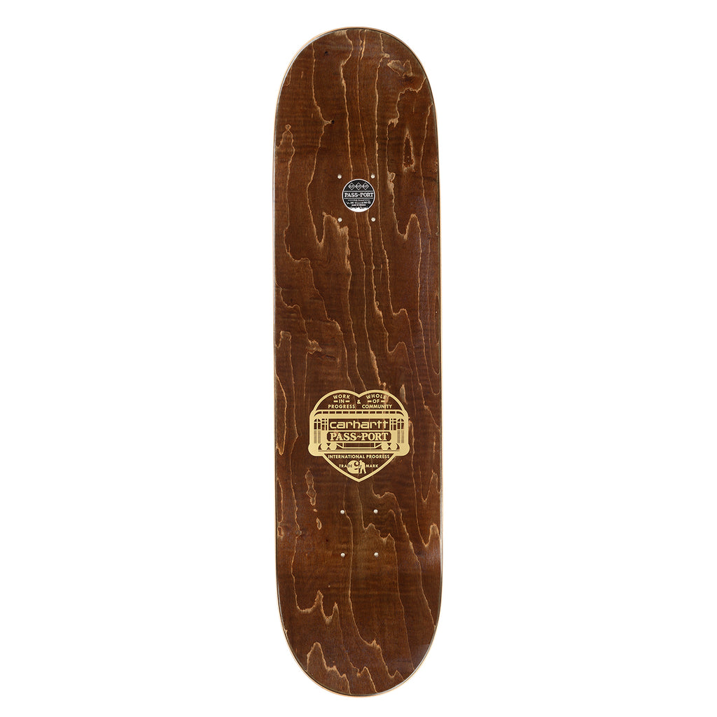 "Carhartt x Pass Port We're Going Skateboard Deck in 8.5"" - Top"