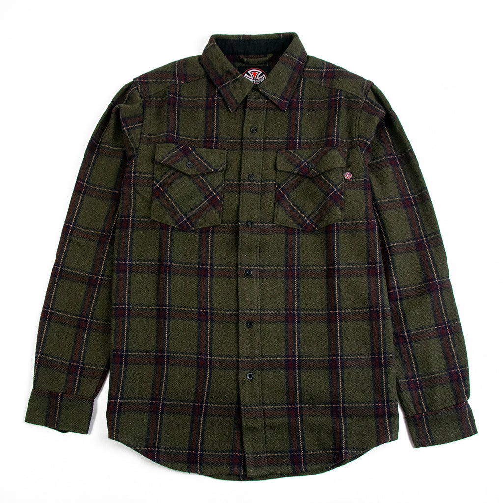 Independent Trucks Chainsaw Shirt in Military Plaid