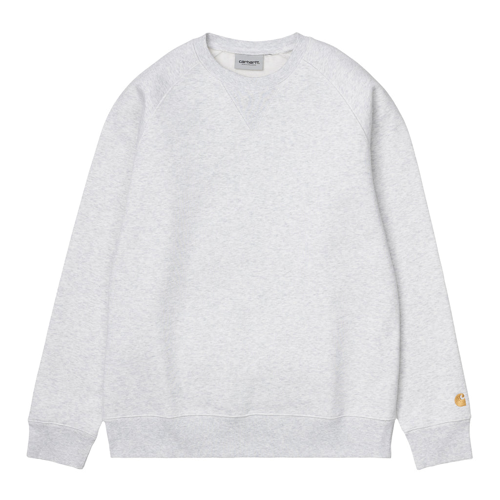 Carhartt WIP Chase Sweatshirt in Ash Heather / Gold