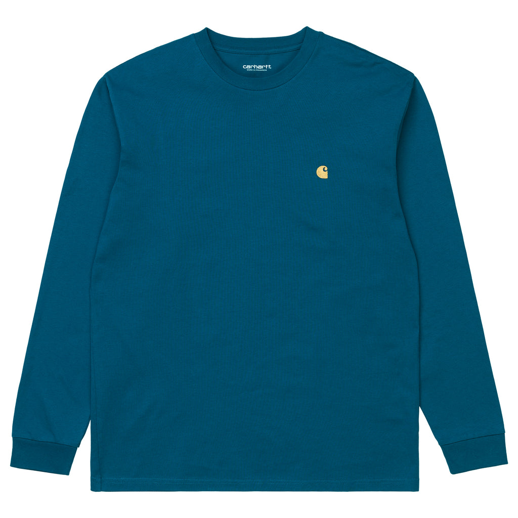 Carhartt WIP L/S Chase T Shirt in Corse / Gold