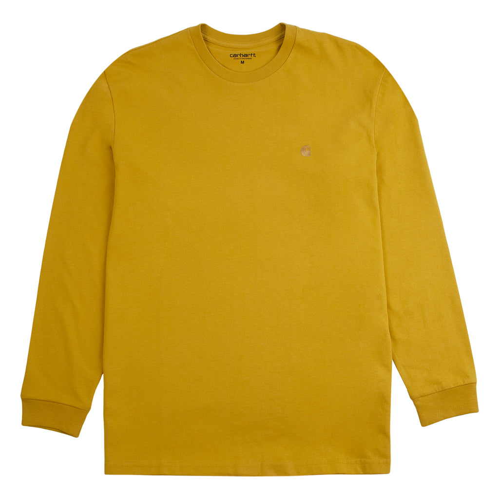 Carhartt WIP L/S Chase T Shirt in Colza / Gold