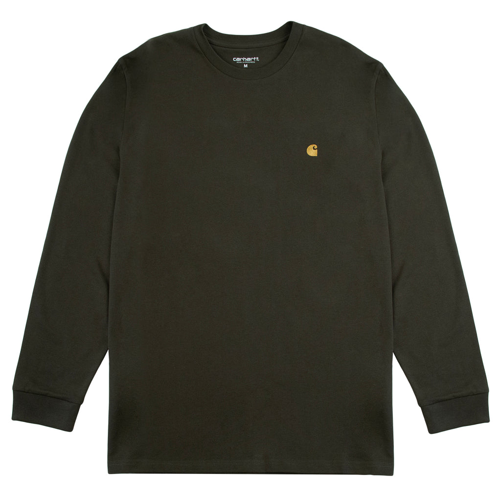 Carhartt WIP L/S Chase T Shirt in Cypress / Gold
