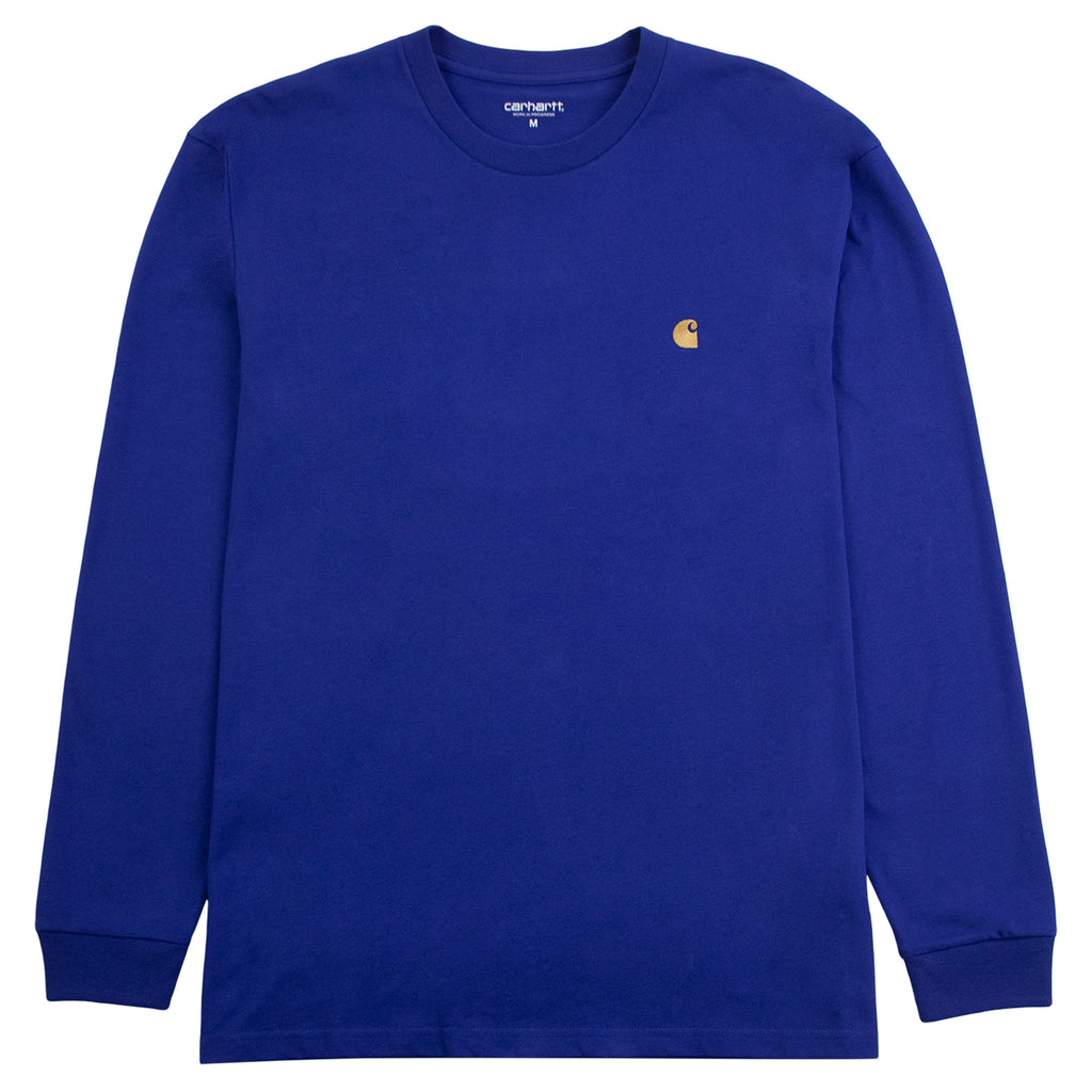 Carhartt WIP L/S Chase T Shirt in Submarine / Gold