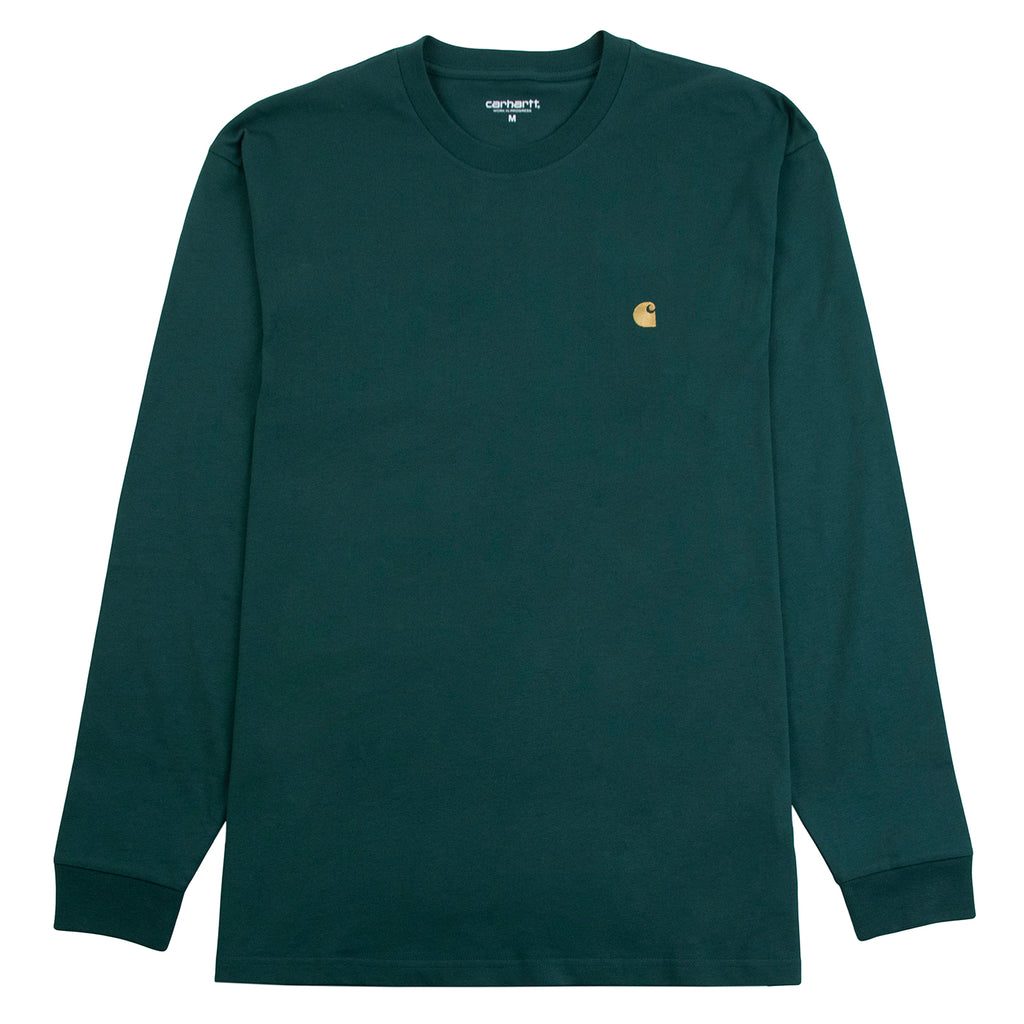 Carhartt WIP L/S Chase T Shirt in Treehouse / Gold