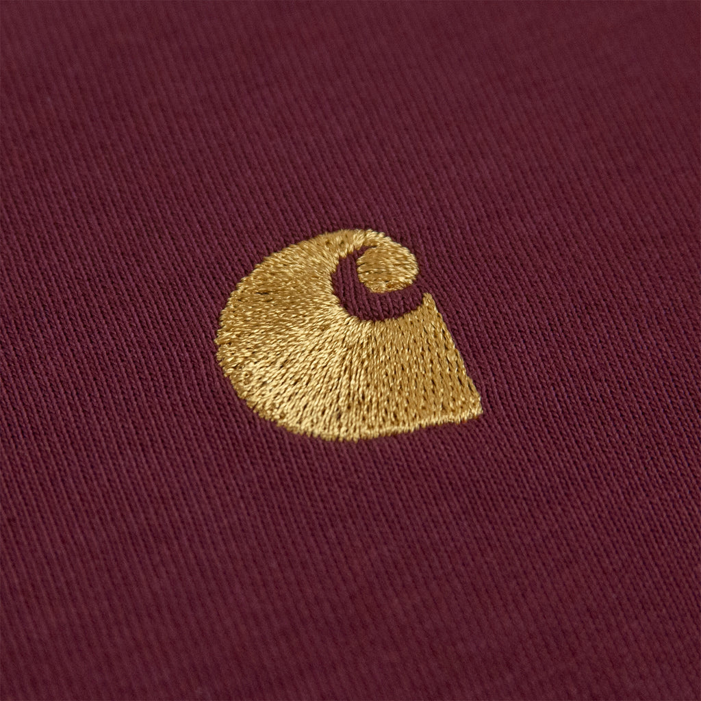 Carhartt WIP Chase T Shirt in Shiraz / Gold - Embroidery