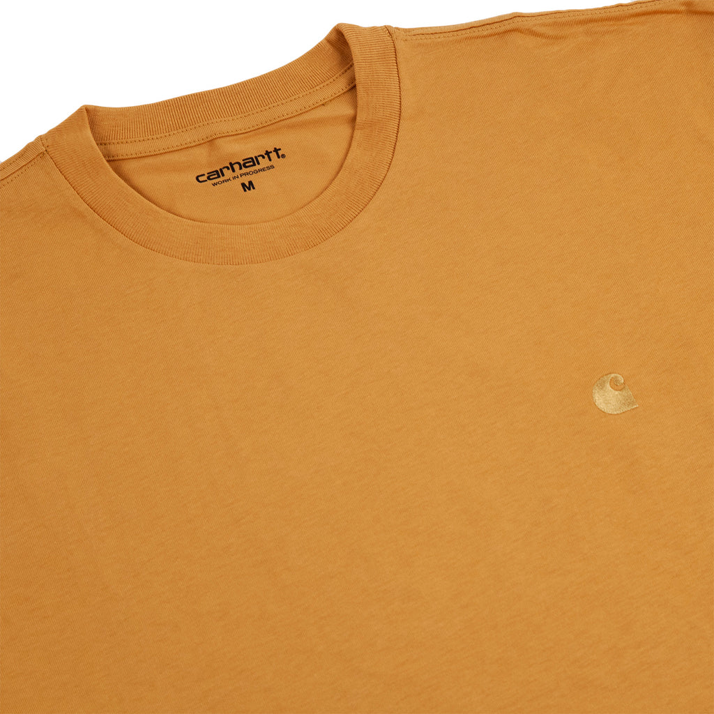 Carhartt WIP Chase T Shirt in Winter Sun / Gold - Detail