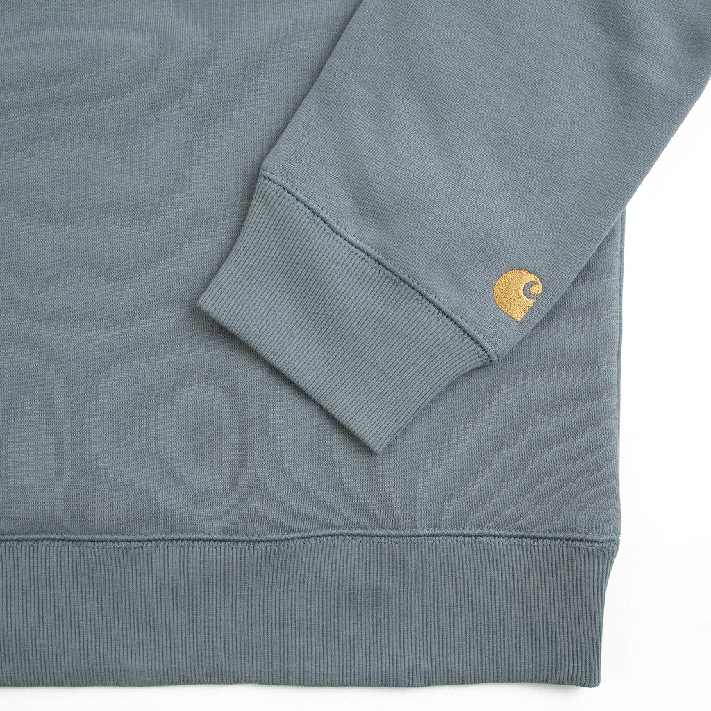 Carhartt WIP Chase Sweatshirt in Cloudy / Gold - Detail 2