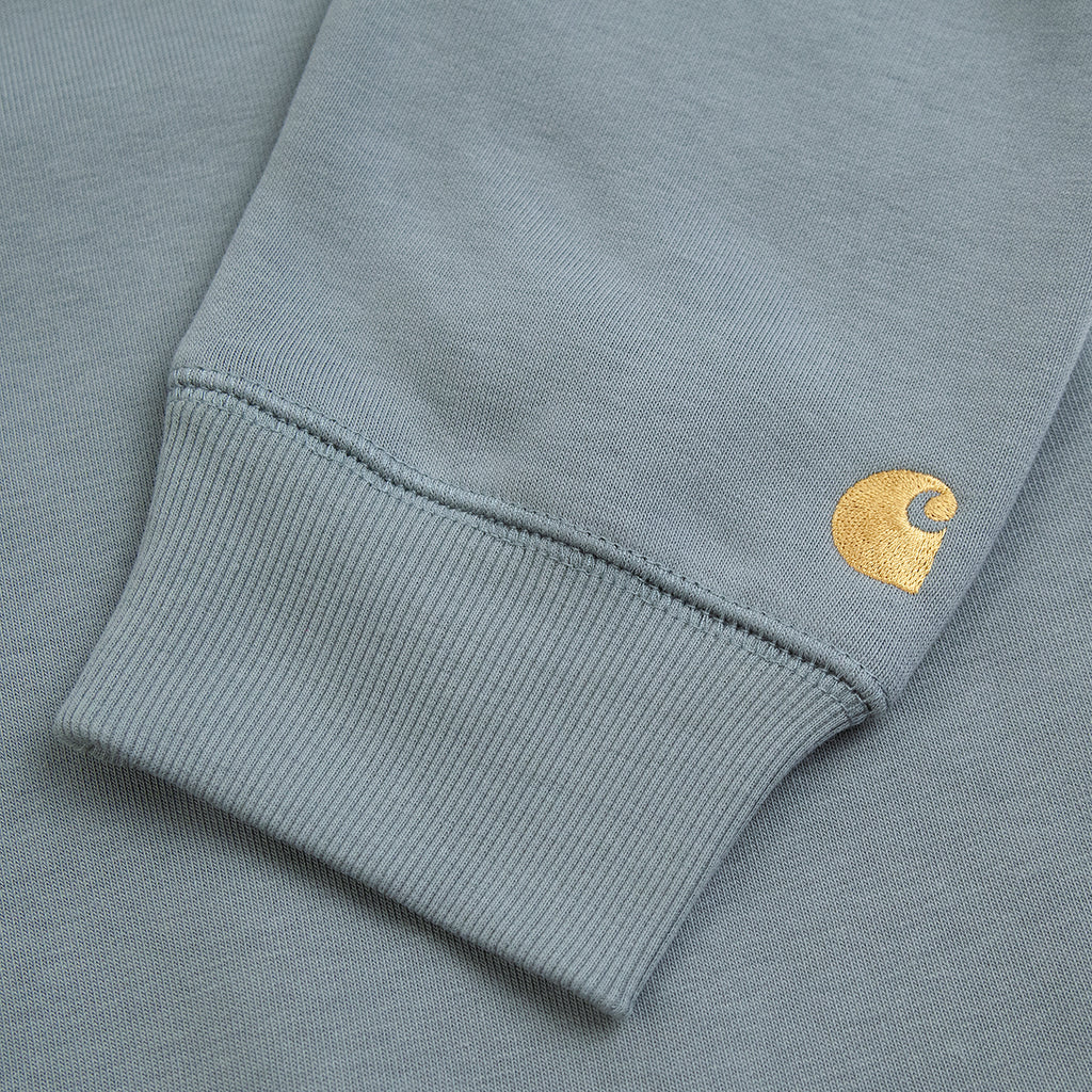 Carhartt WIP Chase Sweatshirt in Cloudy / Gold - Cuff