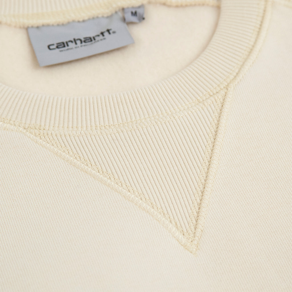 Carhartt WIP Chase Sweatshirt in Flour / Gold - Collar
