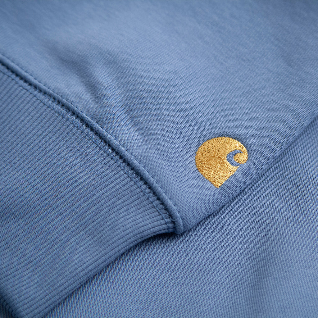 Carhartt WIP Chase Sweatshirt in Mossa / Gold - Embroidered Logo