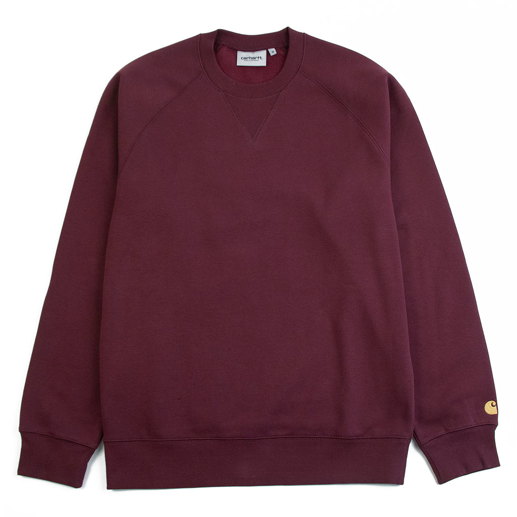 Carhartt WIP Chase Sweatshirt in Shiraz / Gold