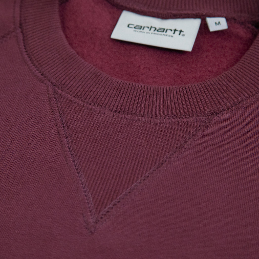 Carhartt WIP Chase Sweatshirt in Shiraz / Gold - Neck