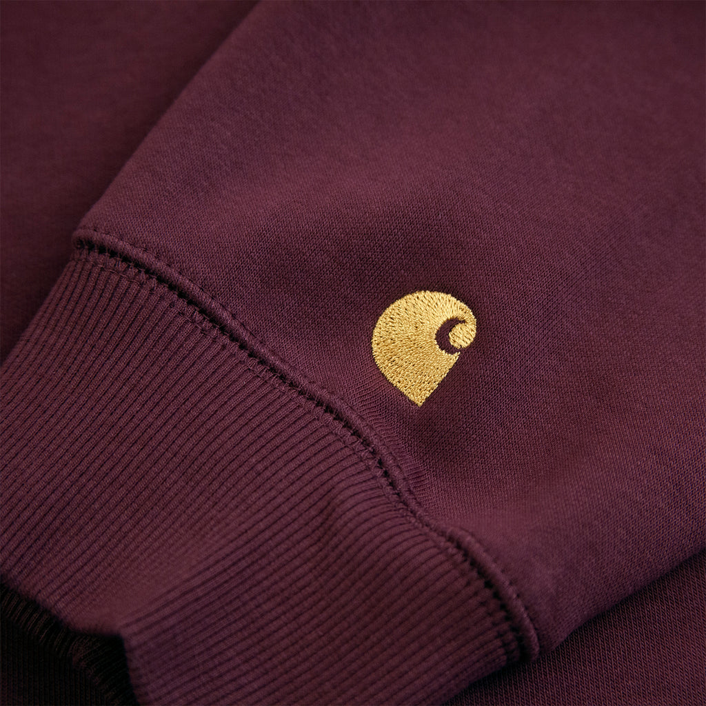 Carhartt WIP Chase Sweatshirt in Shiraz / Gold - Embroidery