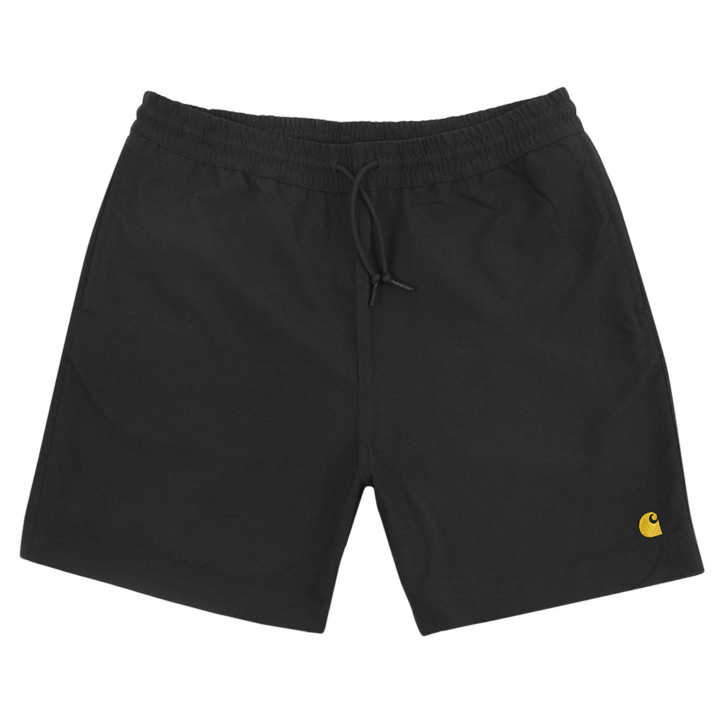 Carhartt Chase Swim Shorts in Black / Gold