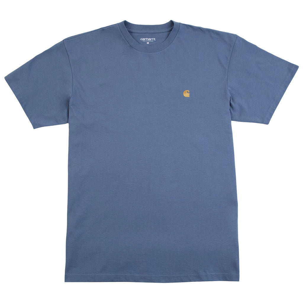 Carhartt WIP Chase T Shirt in Mossa / Gold