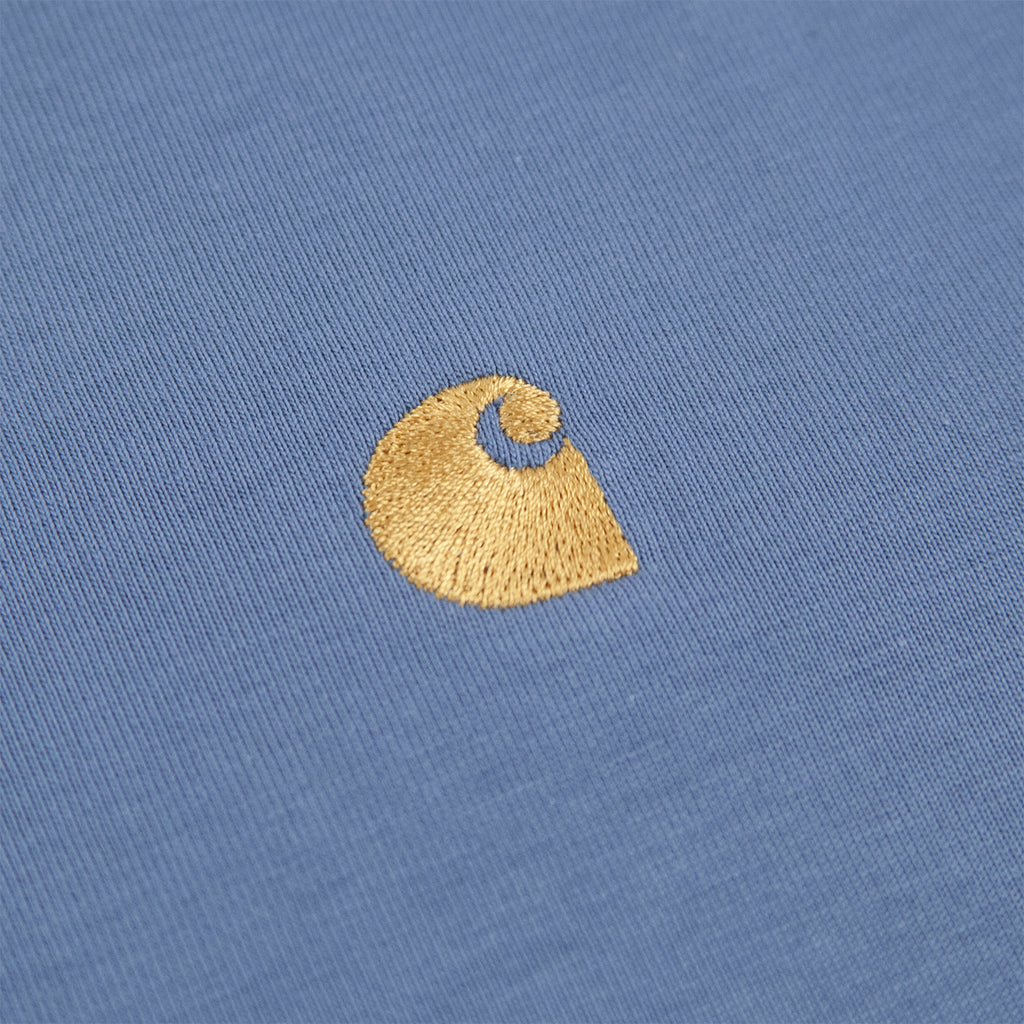 Carhartt WIP Chase T Shirt in Mossa / Gold - Embroidery