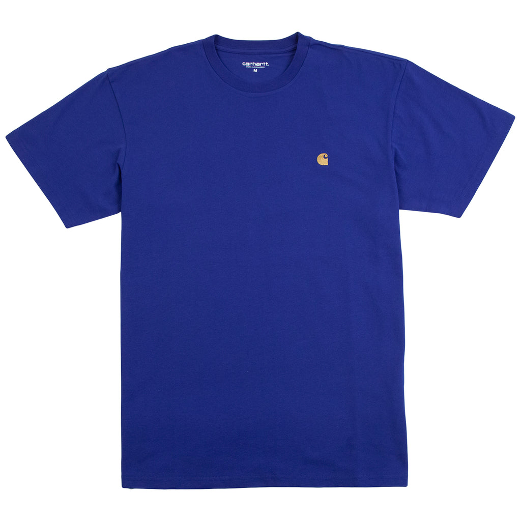 Carhartt WIP Chase T Shirt in Submarine / Gold
