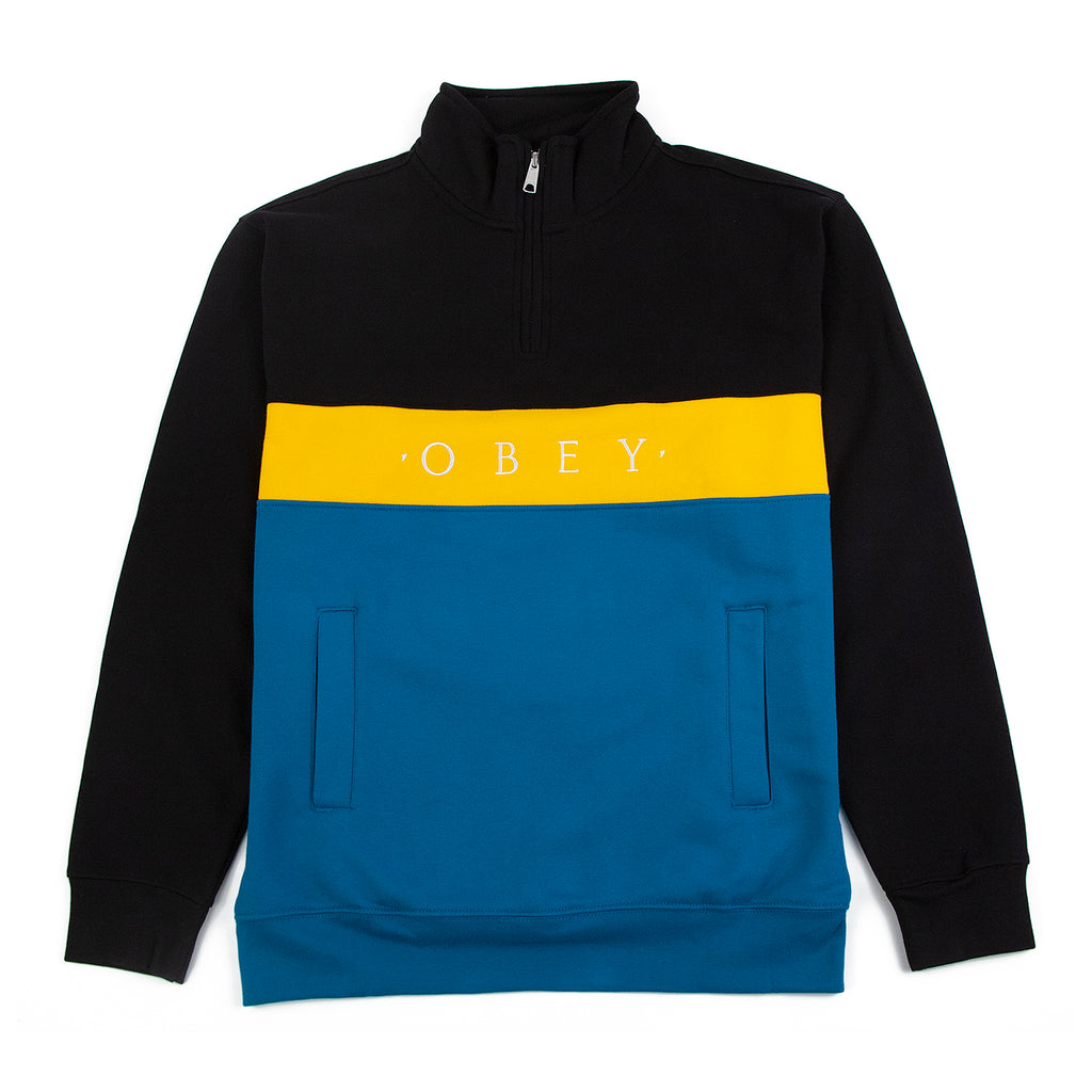 Obey Clothing Chelsea Mock Neck Zip in Black Multi