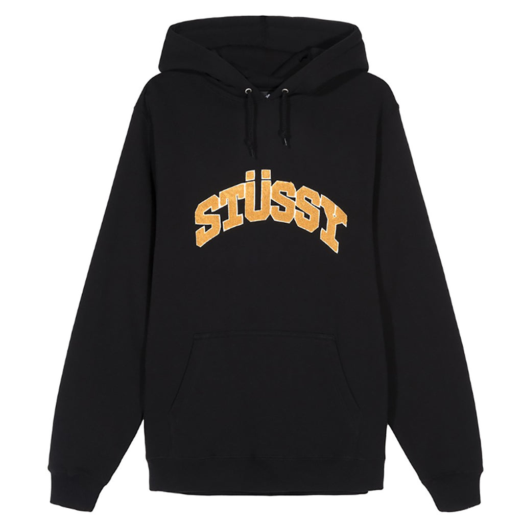 Stussy Chenille Arch Applique Hoodie in Black