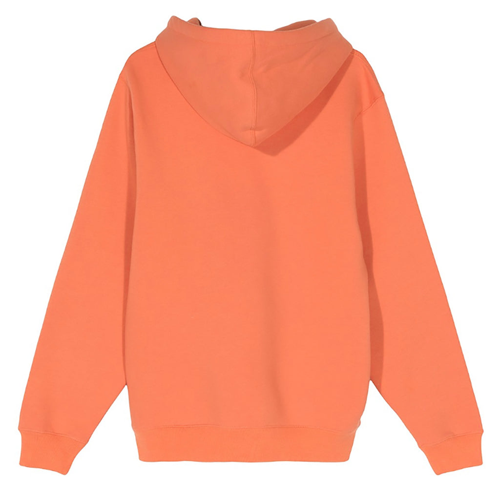 Stussy Chenille Arch Applique Hoodie in Orange - Back