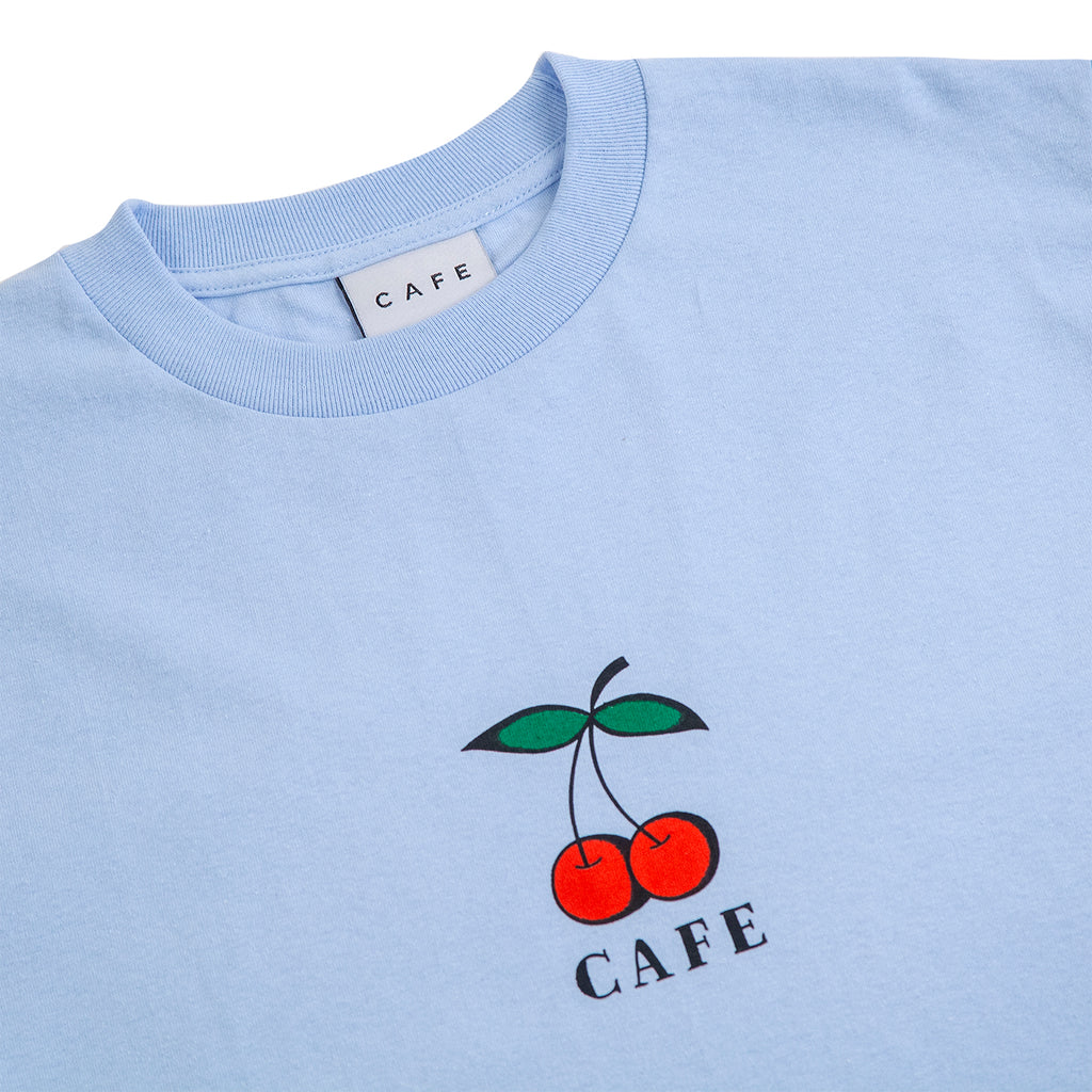 Skateboard Cafe Cherry T Shirt in Blue - Detail