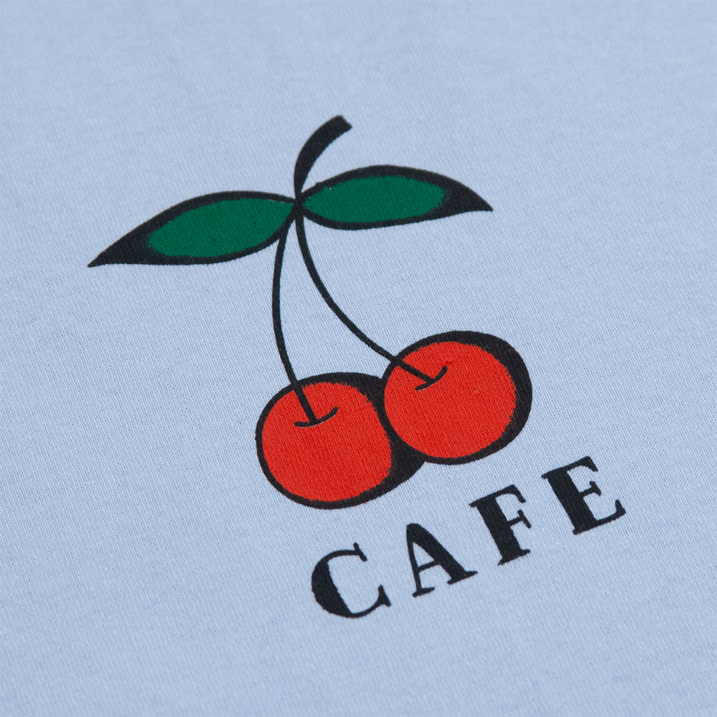 Skateboard Cafe Cherry T Shirt in Blue - Print