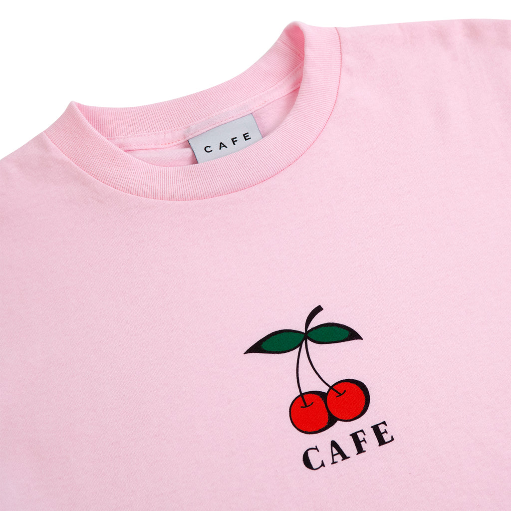Skateboard Cafe Cherry T Shirt in Pink - Detail