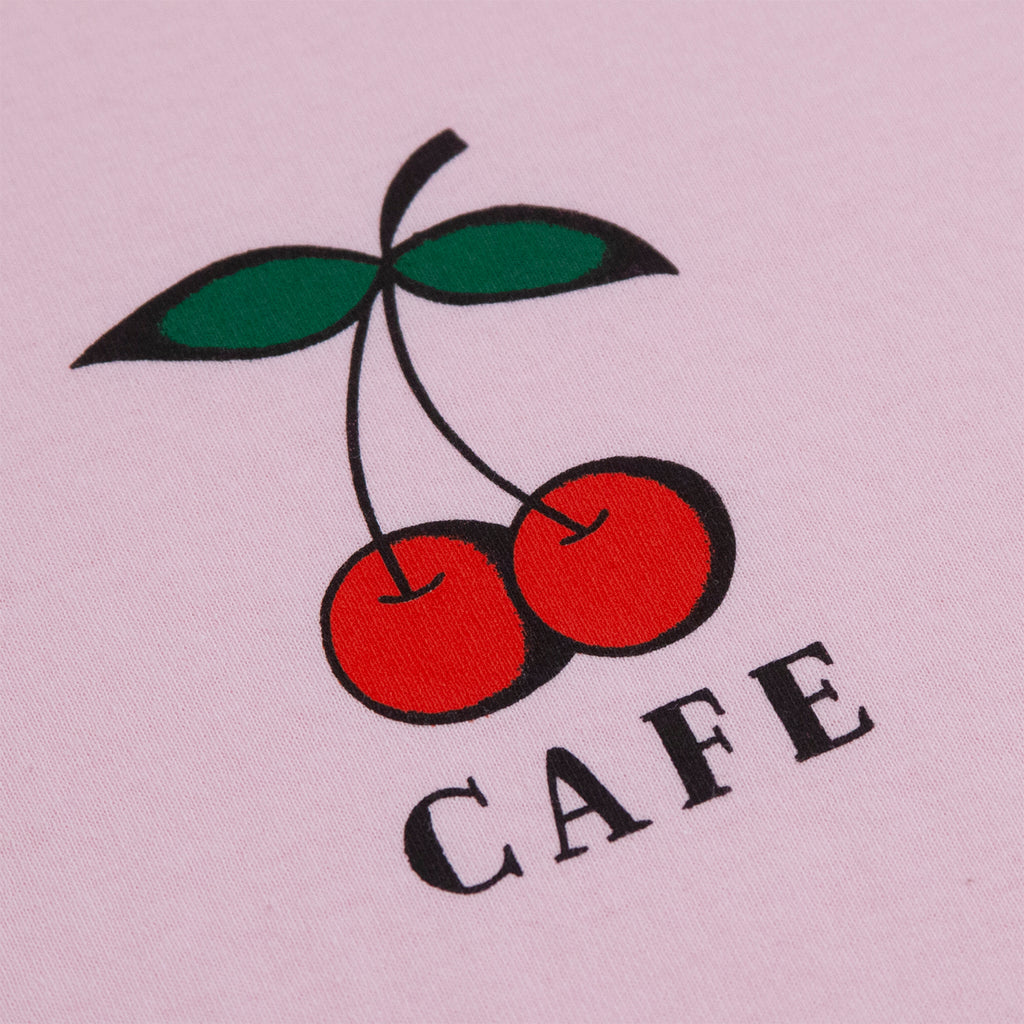 Skateboard Cafe Cherry T Shirt in Pink - Print