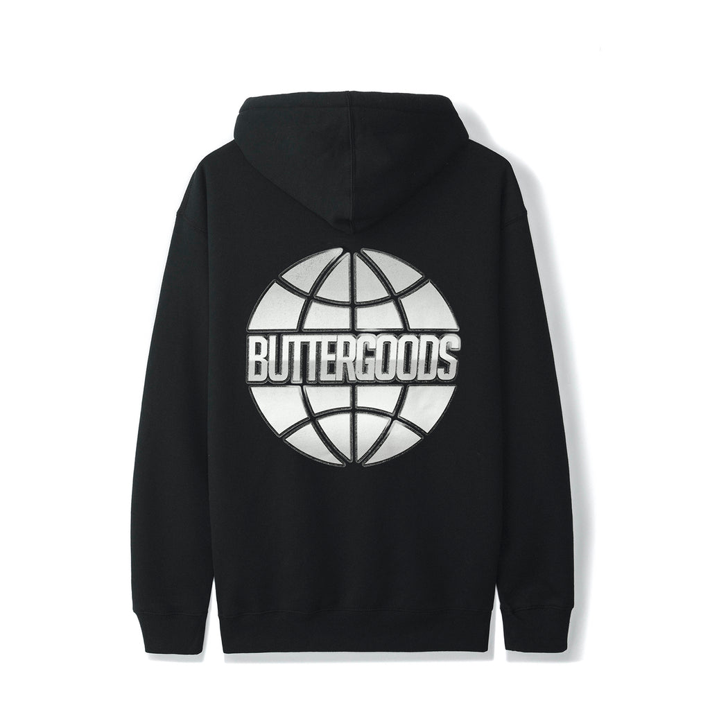 Butter Goods Chrome Worldwide Hoodie in Black