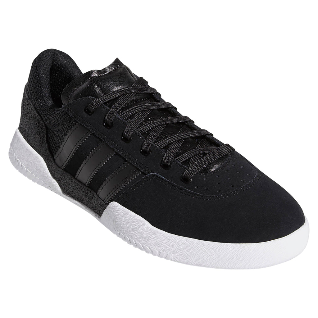 Adidas City Cup Shoes in Core Black / Core Black / Footwear White - Side