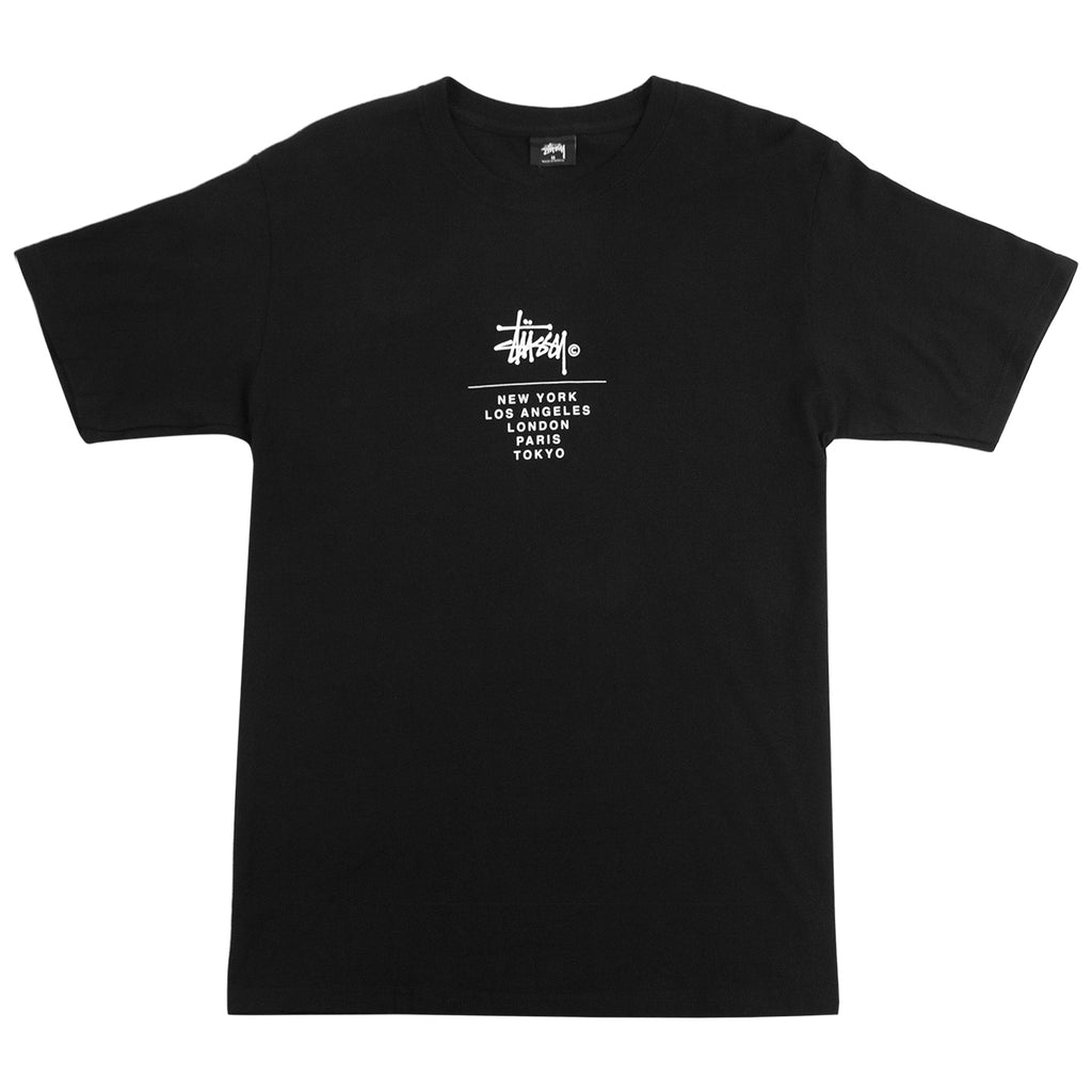 Stussy City Stack T Shirt in Black