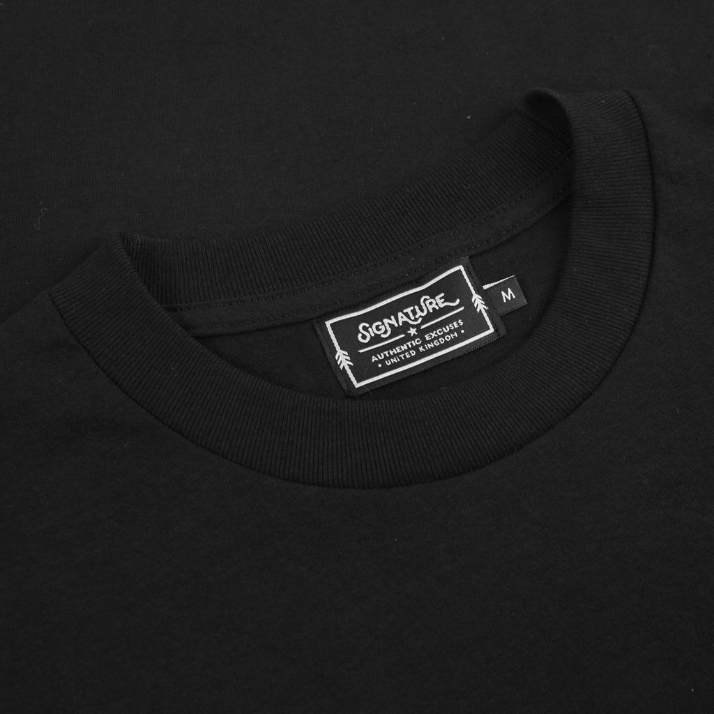 Signature Clothing Outline Logo Embroidered T Shirt in Black / Multi - Label