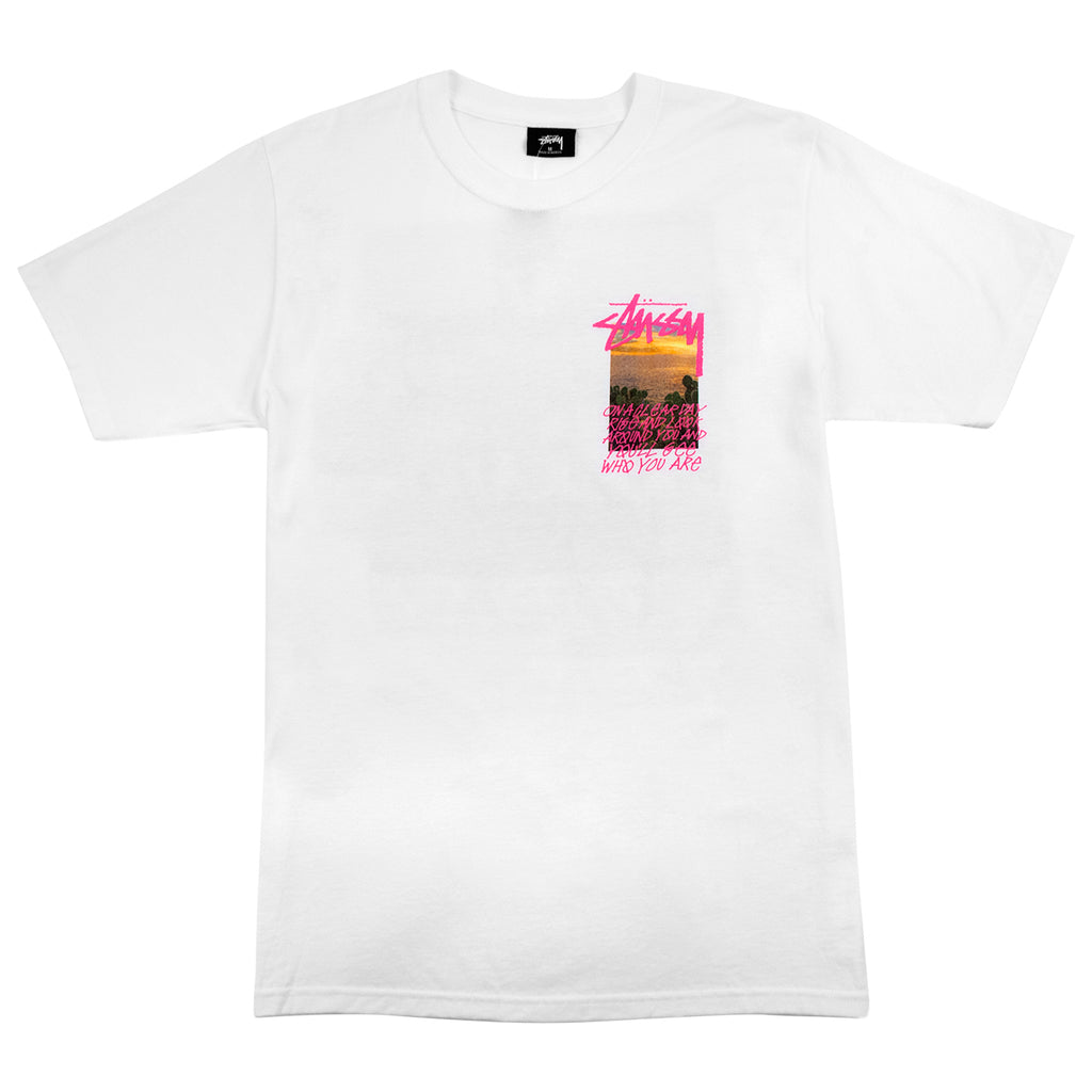Stussy Clear Day T Shirt in White - Front