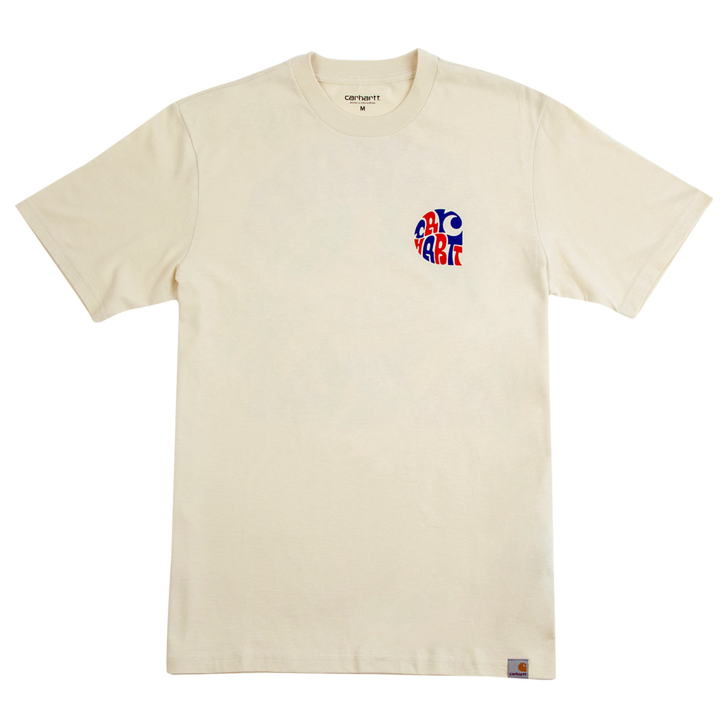 Carhartt WIP Clearwater T Shirt in Flour - Front