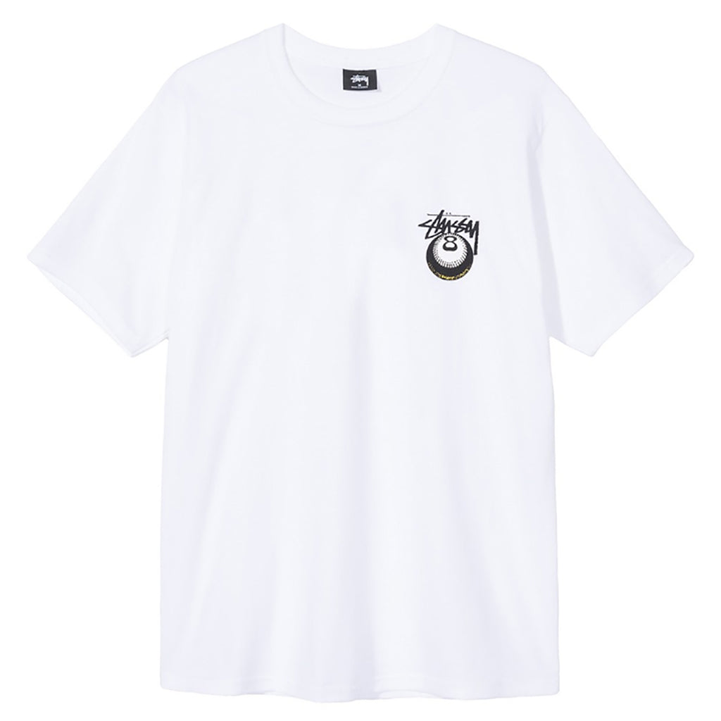 Stussy Cobra 8 T Shirt in White - Front