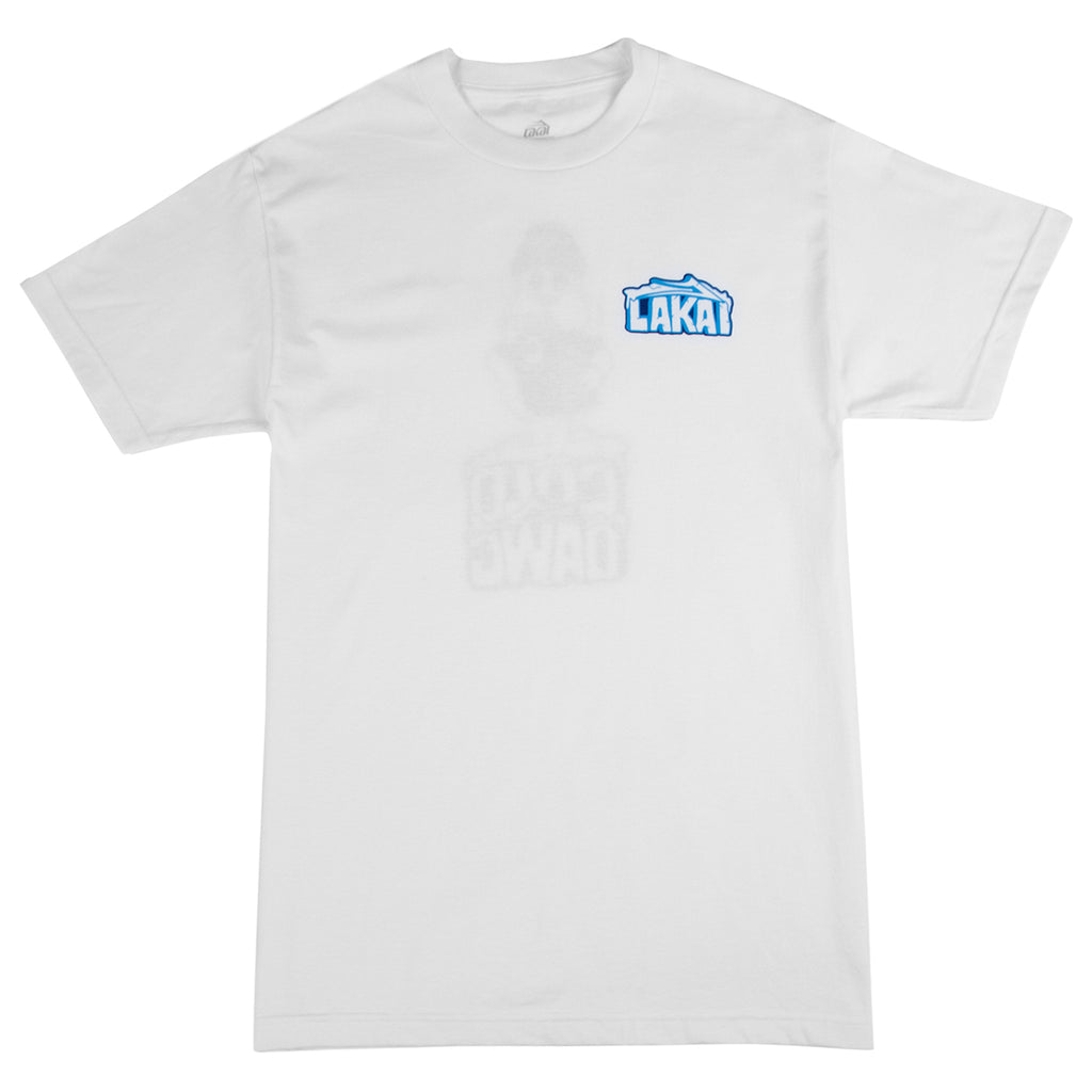 Lakai Cold Dawg T Shirt in White - Front