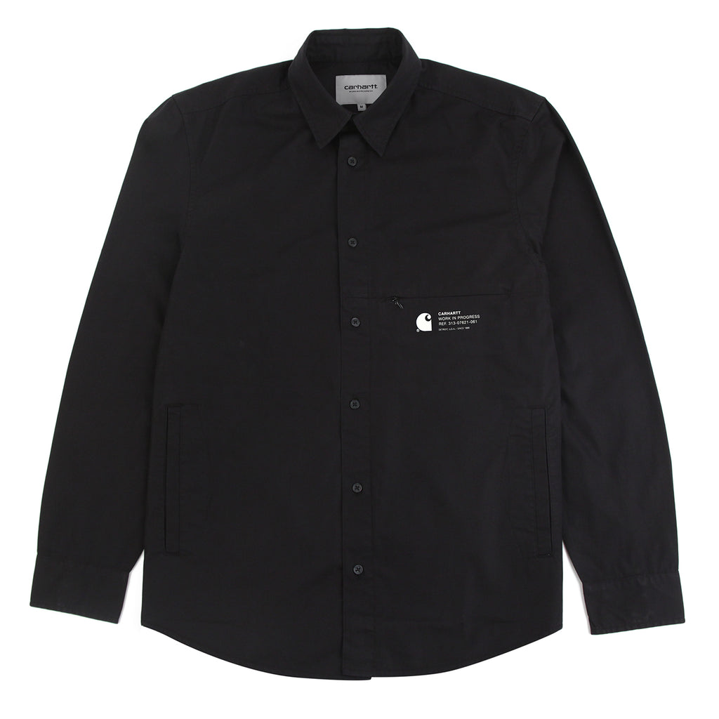 Carhartt WIP L/S Coleman Shirt in Black / Wax