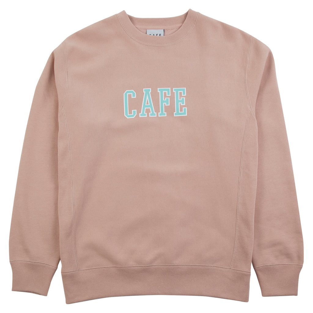 Skateboard Cafe College Heavyweight Oversized Crew Sweatshirt in Dusty Pink
